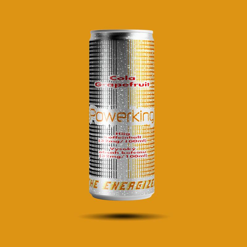 Powerking energetický nápoj Cola / Grapefruit