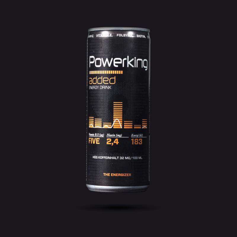 Powerking energetický nápoj Added