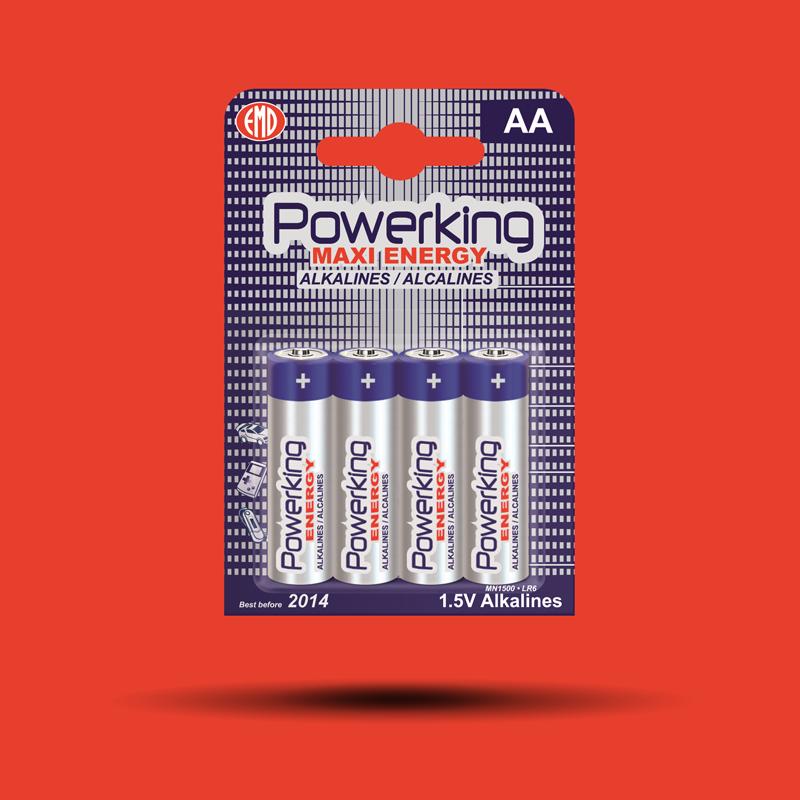 Alkalické batérie POWERKING AA