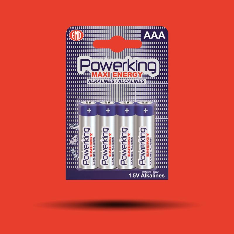 Alkalické batérie POWERKING AAA